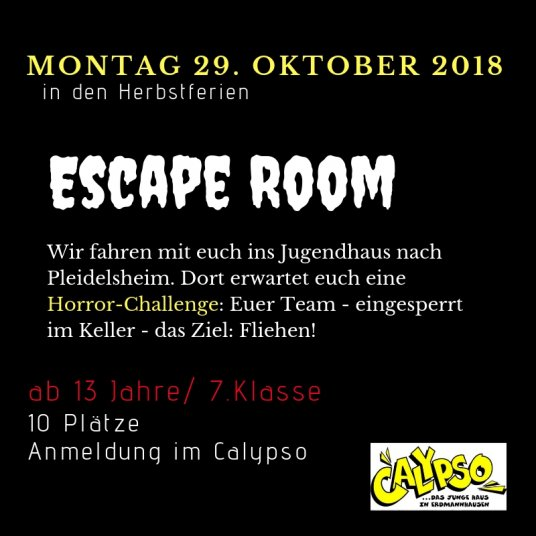 Escape Room Pleidelsheim 29.10.18